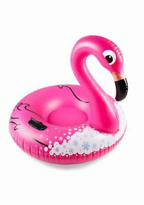 Luftmatratze-Schlitten-Big Snow Tube Flamingo