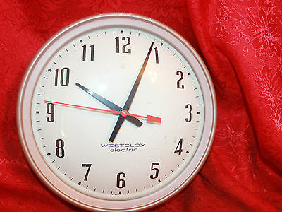 Vintage Industrial Westclox Electric  Wall Clock