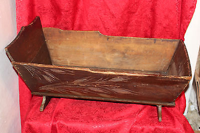Antique Baby Cradle / Wood Baby Cradle