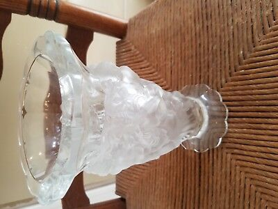 Desna Art Vase Nude Dancing Family Czech Republic  Art Glass Clear Satin QUALITY
