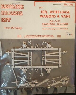 Kenline Chasis CH3 OO Die-Cast Kit for 10ft Wheelbase Wagons & Vans