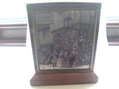 antique brass and wood tea box
