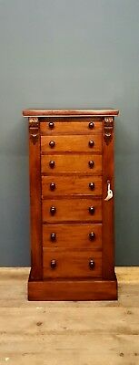 Magnificent Antique Wellington Chest of Drawers Victorian Mahogany 19th Century