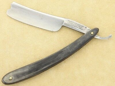 vintage WADE & BUTCHER, FOR BARBERS ONLY, razor, wide blade