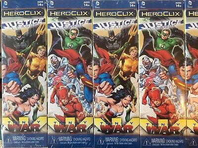 DC HeroClix Justice League Trinity War Brick - x 10 boosters Factory Sealed