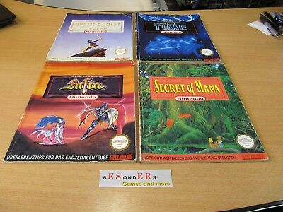SNES Super Nintendo, Secret of Mana, Lufia, Time, Mystic Quest, SPIELEBERATER