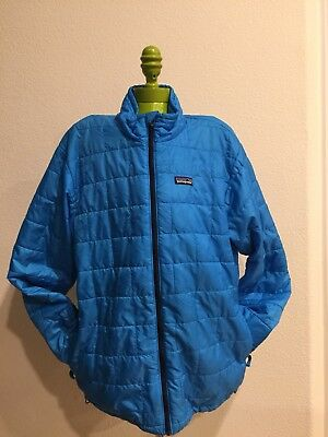 Patagonia Blue Quilted Youth 14 XL Nano Puff Puffer jacket