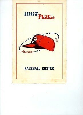 1967 Philadelphia Phillies Baseball Media Guide VG