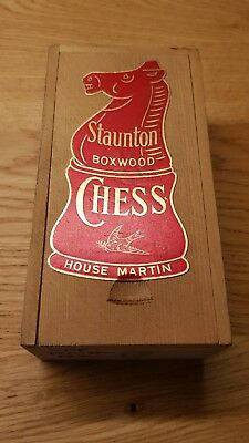 Vintage Staunton Boxwood  Chess Set  VGC