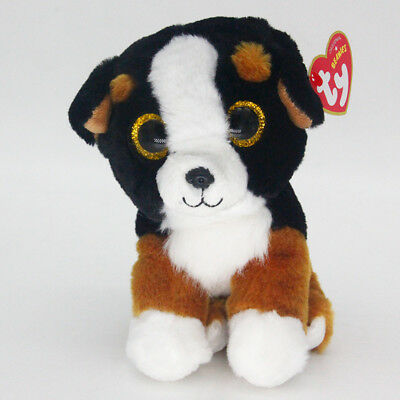 "Ty Beanie Boos 6"" Roscoe Stuffed Plush Toy Soft Animals Toys Girls&Boys Dolls"
