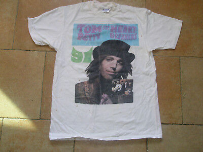 """Tom Petty And The Heartbreakers 1991, """"great Wide Open"""" Tour Shirt, L/g 2 Sd Wht"""