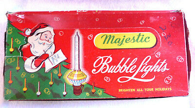 Unusual Vintage Bubble Lights Box Majestic No. 680 With Weird Light Graphic