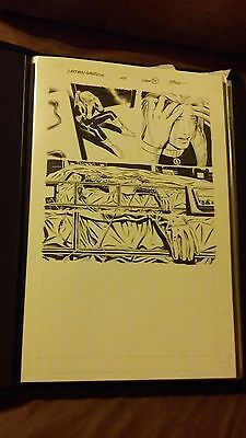Original Art Splash Captain America #25 Last page and Appearance of Cap! RARE!