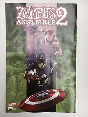 Marvel Comics: Zombies Assemble 2 #3 Variant (2017) - BN - Bagged and Boarded