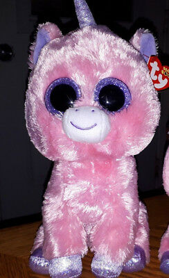 """TY Beanie Boo Magic unicorn 9"""" buddy size boo tags attached"""