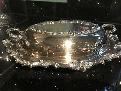 Lovely Antique Silver Plated Serving Warming Tureen VGC