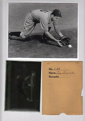 1940 Leo Durocher Brooklyn Dodgers Baseball 5x7 Original Negative