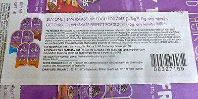 Lot Of Free Whiskas Perfect Portions When You Buy Dry Product Coupons