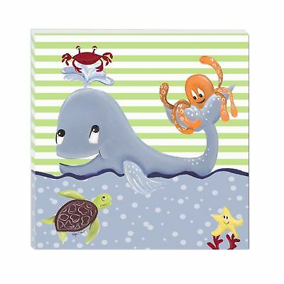 """Doodlefish Gallery Wrapped 18""""x18"""" Wall Art Whale of a Tale"""