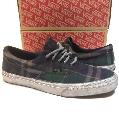 7a62b17752 VANS ERA CA Over Washed Plaid Blue Green Men s Skate Shoes Size 12 ...