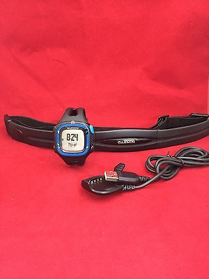 New Genuine Garmin Forerunner 15 Watch and Heart Rate Monitor - Blue/Black