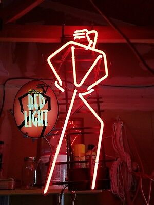 """Rare Collectable Coors """"Red Light"""" Neon Sign - Authentic Fantastic Condition"""