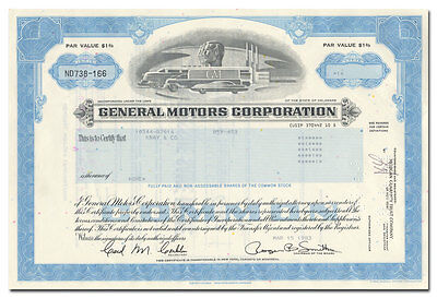 General Motors Corporation Stock Certificate