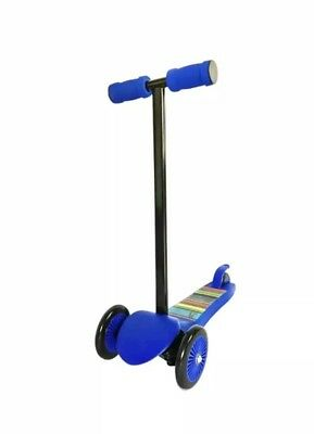 Ozbozz Trail Twister Junior Striped 3 Wheel Scooter Blue Ages 3+ NEW IN BOX