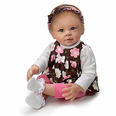 Ashton Drake Sweet Brown Eyed Girl Lifelike Poseable Baby Doll by Linda Murray