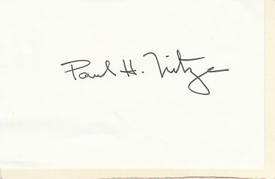 Paul H. Nitze Autograph (1907-2004) : Secretary Of The Navy