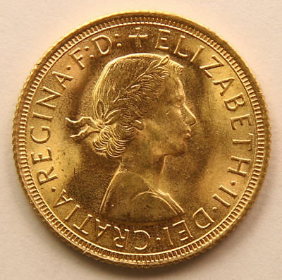 1963 Gold Sovereign - Queen Elizabeth II