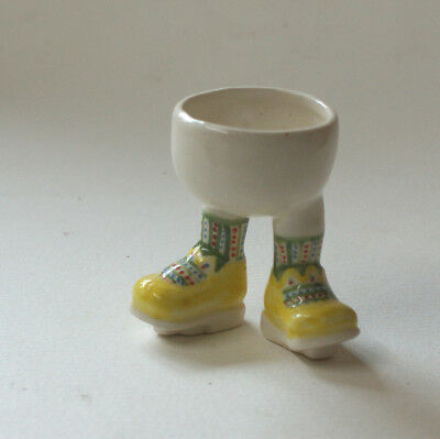 Walking Ware. Dancing 'boy' eggcup. Studio made.