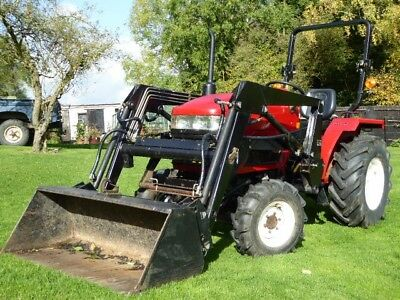 Siromer 304S 4 x 4 Compact Tractor with front loader, bucket and muck fork