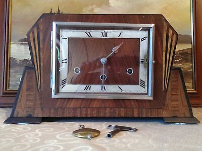 Rare 1930's 'Norland' 8-Day 'Westminster' Chiming Mantel Clock - Serviced & GWO.