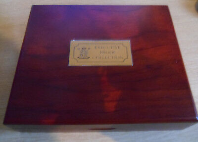 2006 UK Wooden Boxed Executive Proof Collection Set 13 Coins