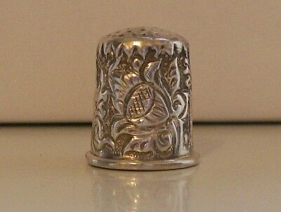 Stunning Large Vintage 925 Sterling Silver Continental Thimble
