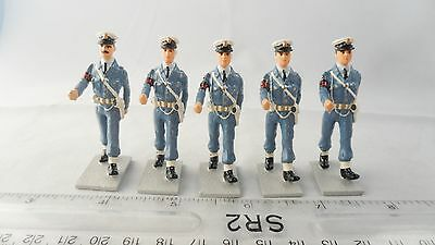 Solid Cast - 2Nd World War Painted Raf Police Corporals & Officer - See Below