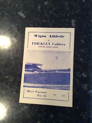 Pre League Wigan Athletic V Frickley Colliery 18.11.1967
