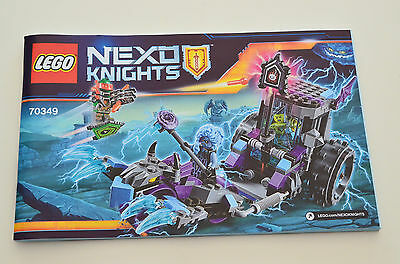 INSTRUCTION Manual ONLY - LEGO Nexo Knights 70349 Ruina's Lock & Roller - NEW