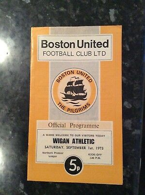 Pre League Wigan Athletic Away Game At Boston United 01.09.1973
