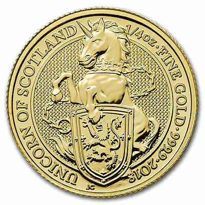 2018 Great Britain 1/4 oz Gold Queen's Beasts The Unicorn - SKU #152537