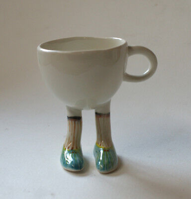 Walking Ware. Studio made. French set cup. Blue shoes.