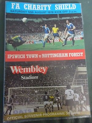 Ipswich Town V Nottingham Forest Fa Charity Shield Final 1978 Programme