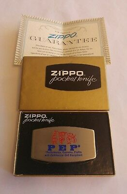 Vintage ZIPPO Pocket Knife - PEP Gas Equipment - New in Box - Free Shipping