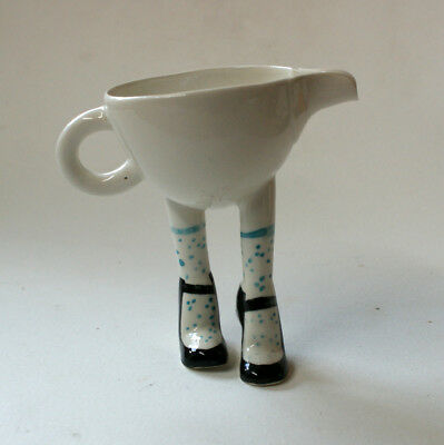 Walking Ware. Studio made. Long legged milk jug