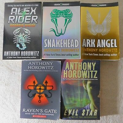 Lot of 5 Anthony Horowitz trpbs YA fiction books Ark Angel, Evil Star, Snakehead