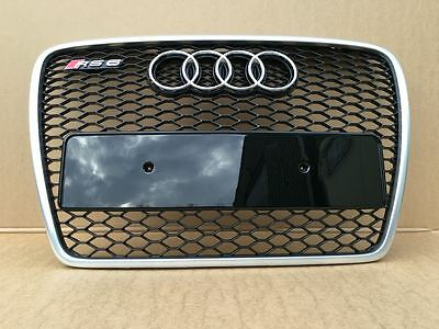 Audi A6 S6 Rs6 4F 2004-2011 Bumper Grill Front Grill Rs Style Satin