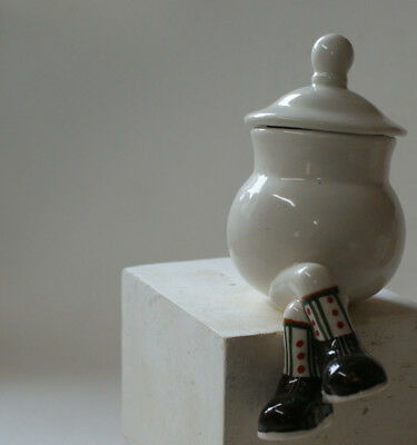 Walking Ware. Studio made. Sitting sugar jar