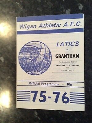 Pre League Wigan Athletic Home Game V Grantham 31.01.1976