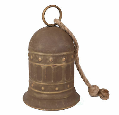 """New 7"""" Antique Style Large Decorative Metal Bell for Garden and Home Decor"""